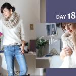 アラフォーファッションのぶりっ子すぎないファーの選び方DAY18